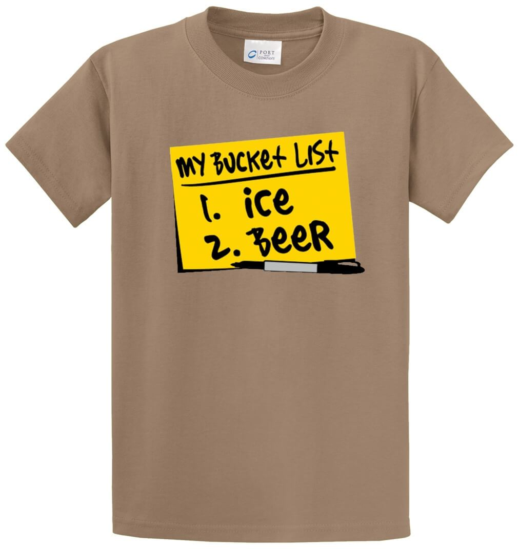 My Bucket List Ice Beer Printed Tee Shirt-1