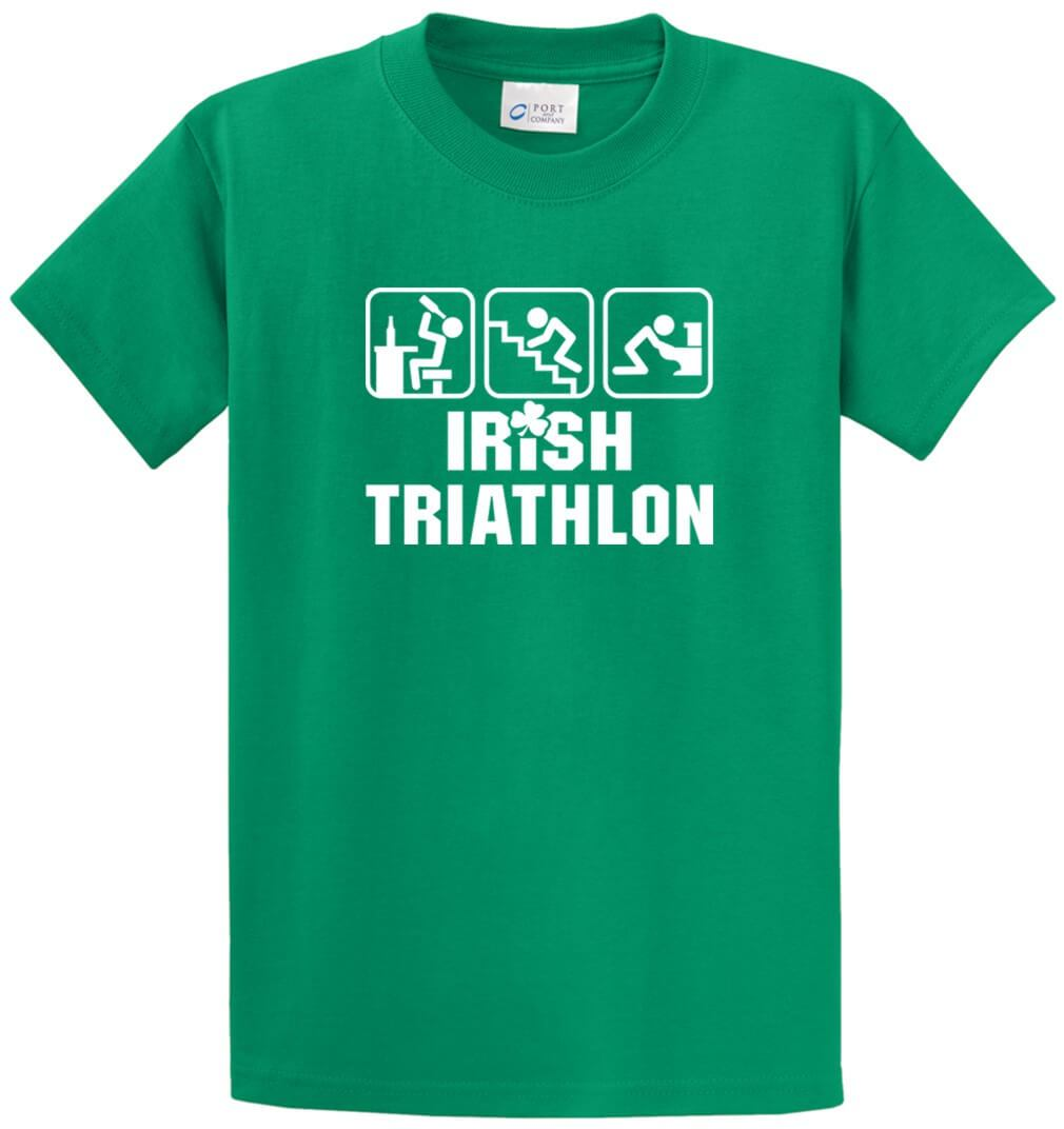 Irish Triathlon Printed Tee Shirt-1