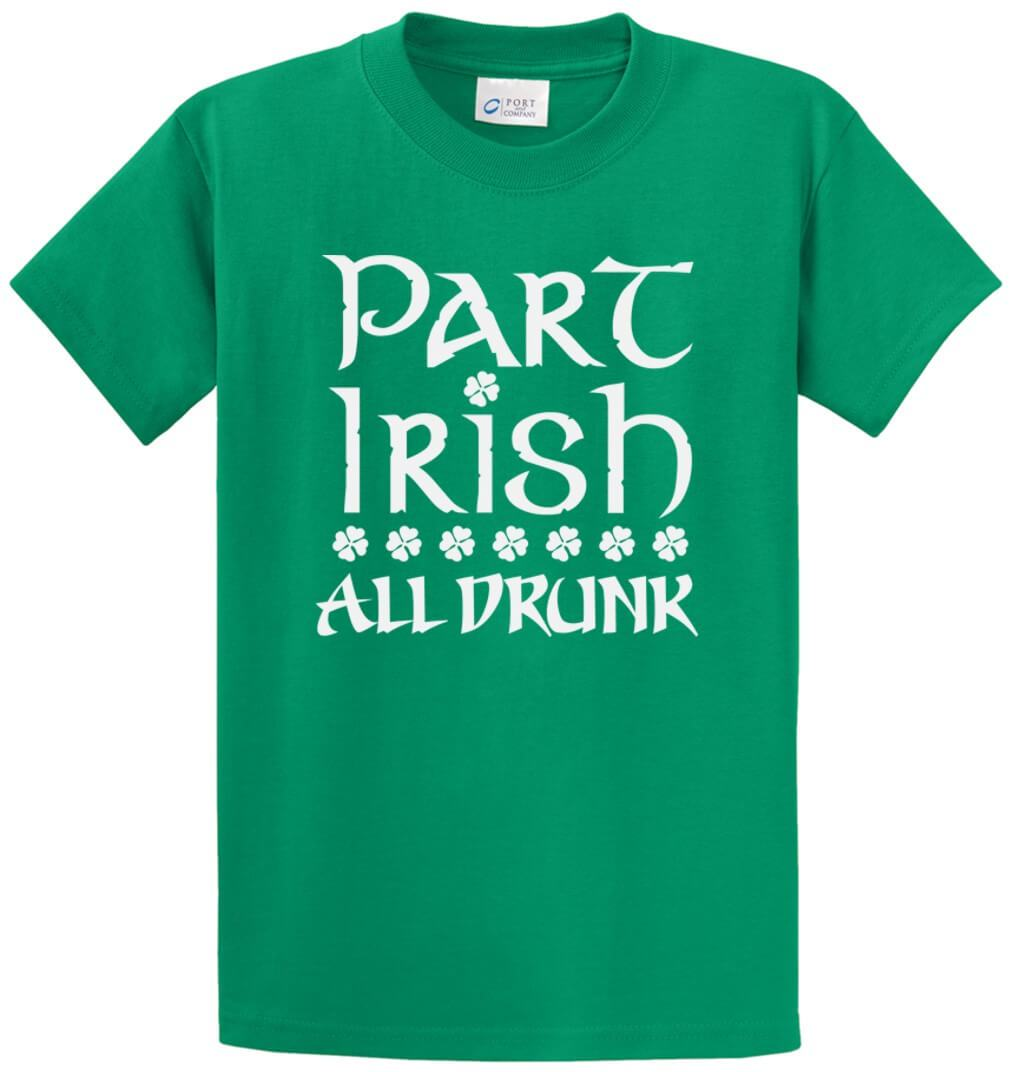 Part Irish-All Drunk Printed Tee Shirt-1