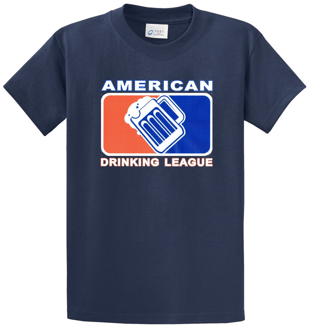 American Drinking League Printed Tee Shirt-1