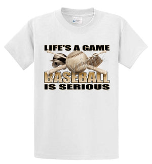 Life's A Game - Baseball Printed Tee Shirt