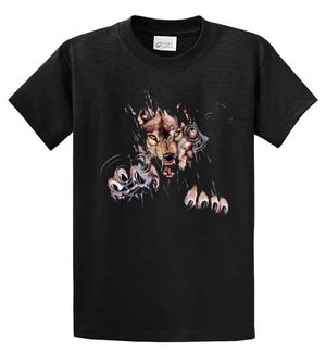 Wolf - Rip Out Printed Tee Shirt