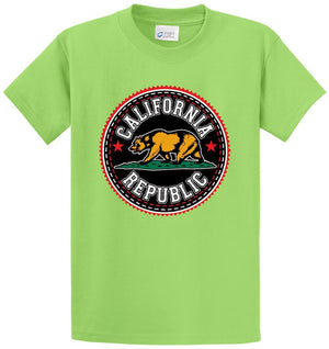 Bear California Republic Circular Printed Tee Shirt