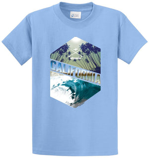 Surfing California Printed Tee Shirt