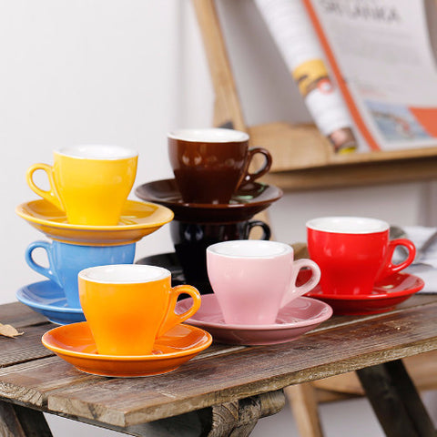 The Colorful Tulip Cup/Saucer