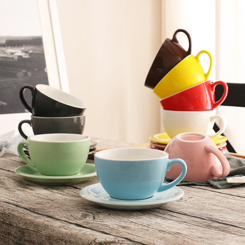 The Colourful Barista Cup/Saucer