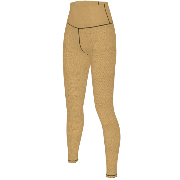 khaki yoga pants quarter