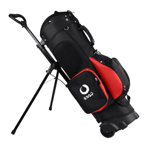 enso wheeled golf bag caddy red