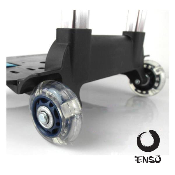 enso telescoping caddy wheels blue