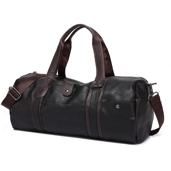 enso leather duffel bags black