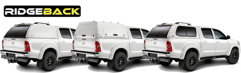 Commercial range of pickup hardtops