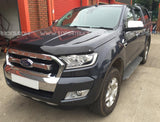 Ford Ranger 2016-2018 | EGR Dark Smoked Bonnet Guard | Black