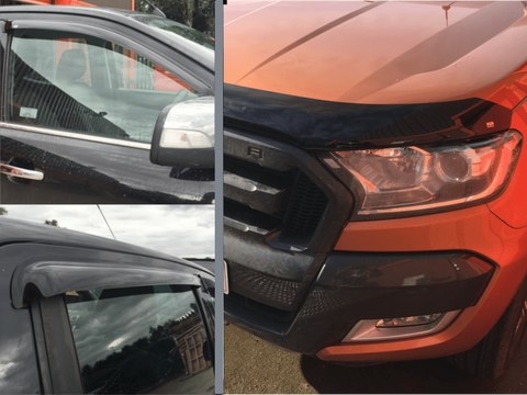 Ford Ranger 2016-2019 |EGR Bonnet Guard And Wind Deflectors Set