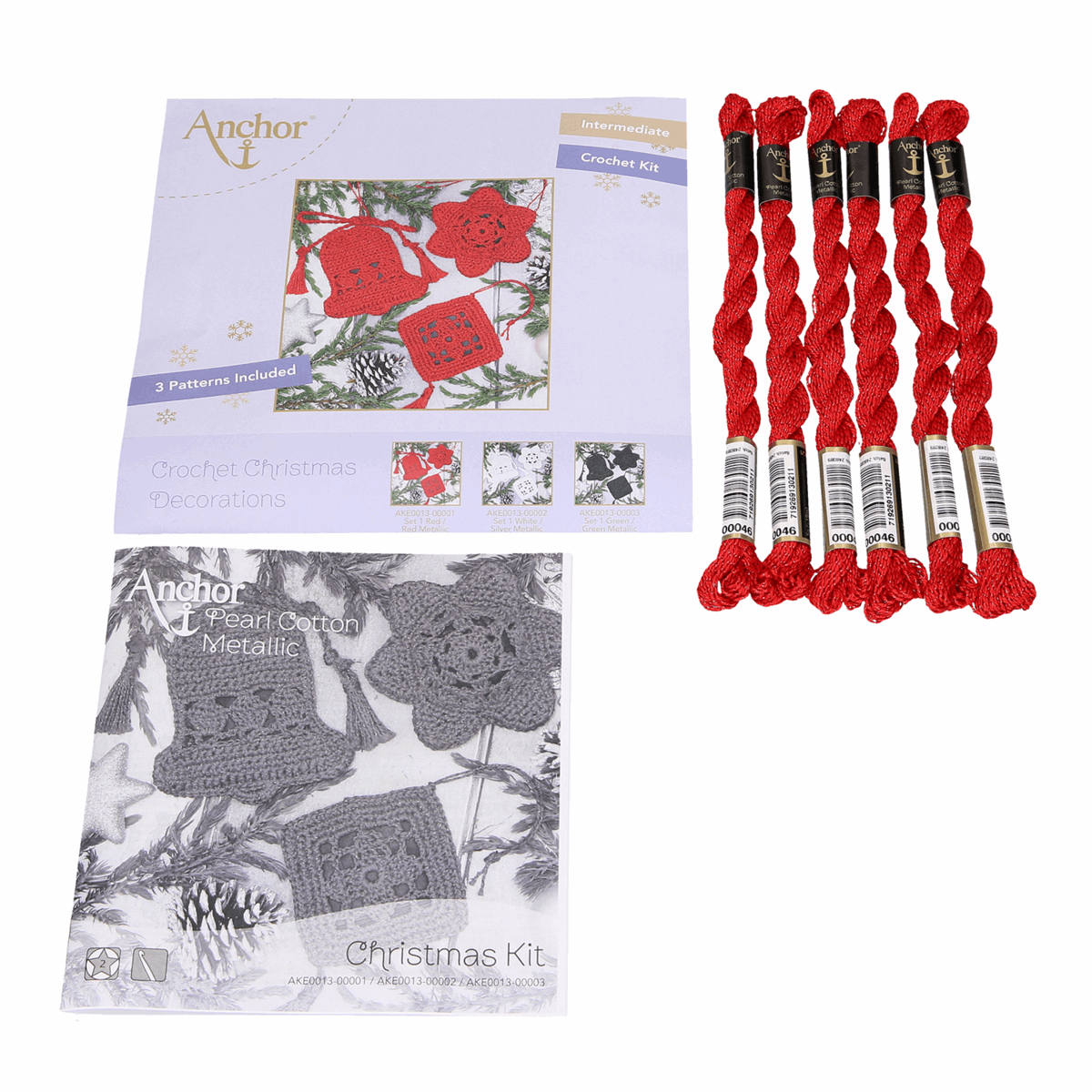 Christmas Decoration crochet kit red