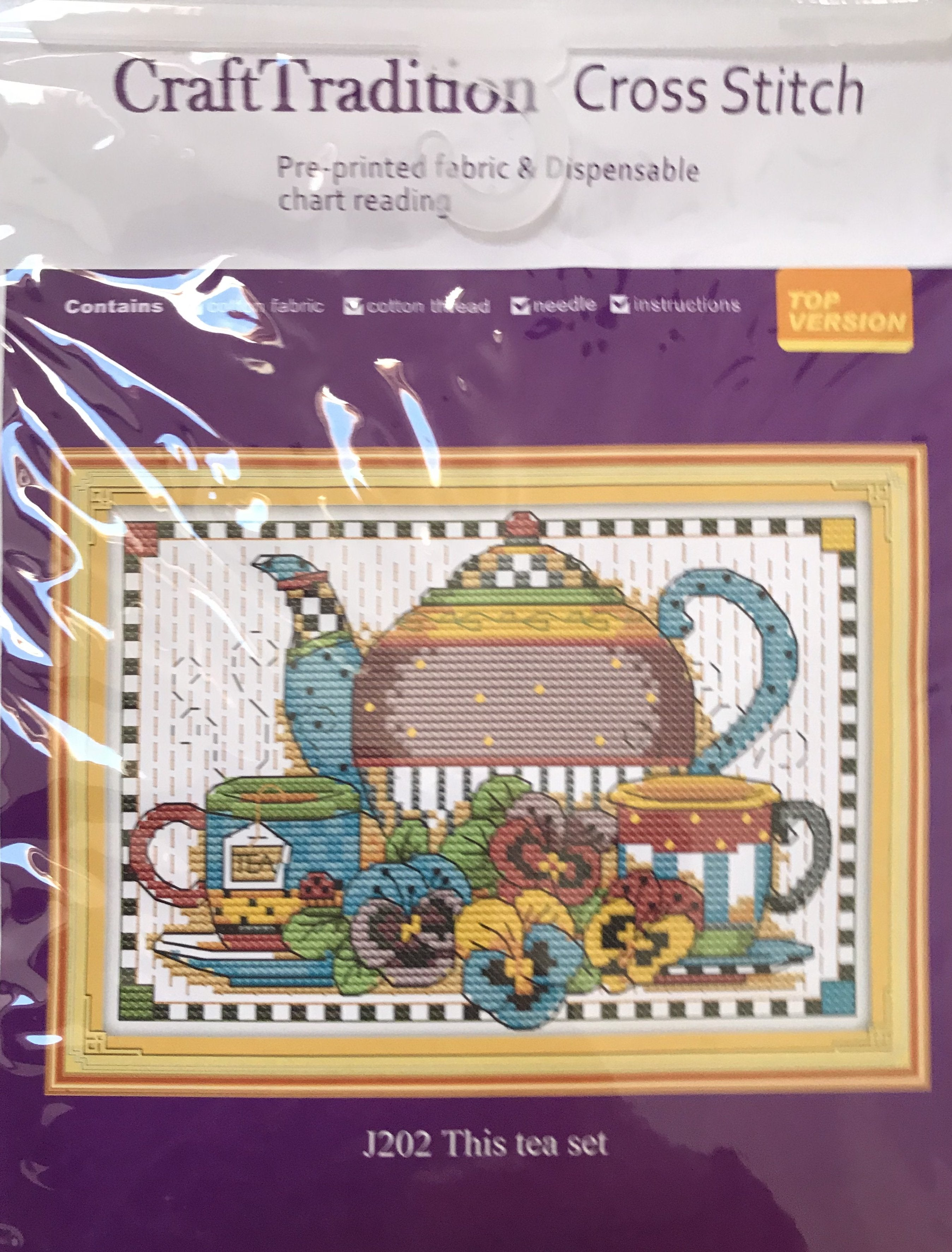 Cross stitch kit complete with instructions