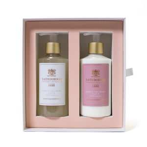 Dublin tea rose hand wash and lotion set. rathbourne candles