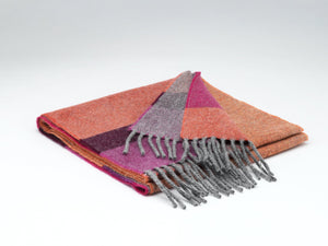 Havana stripe supersoft Lambswool Scarf