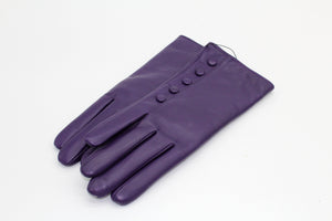Cashmere Lined Leather Gloves, Purple €59