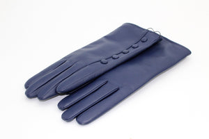 Cashmere Lined Leather Ladies Gloves, Navy €59