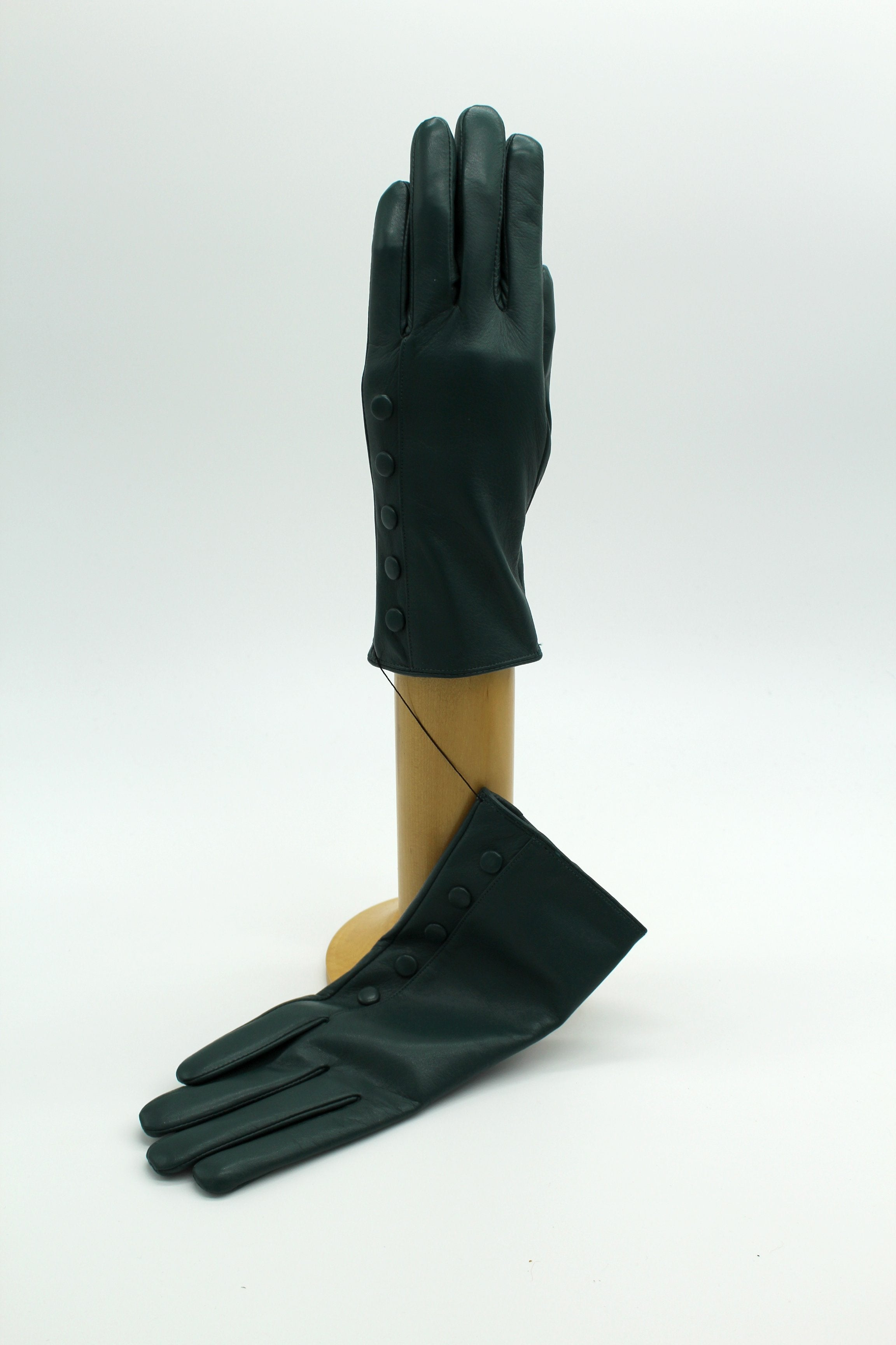 Cashmere Lined Leather Ladies Gloves, Green €59