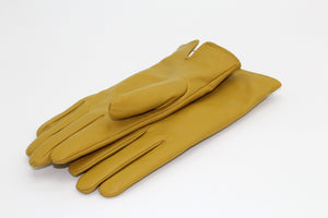Cashmere Lined Leather Ladies Gloves, Mustard, €59