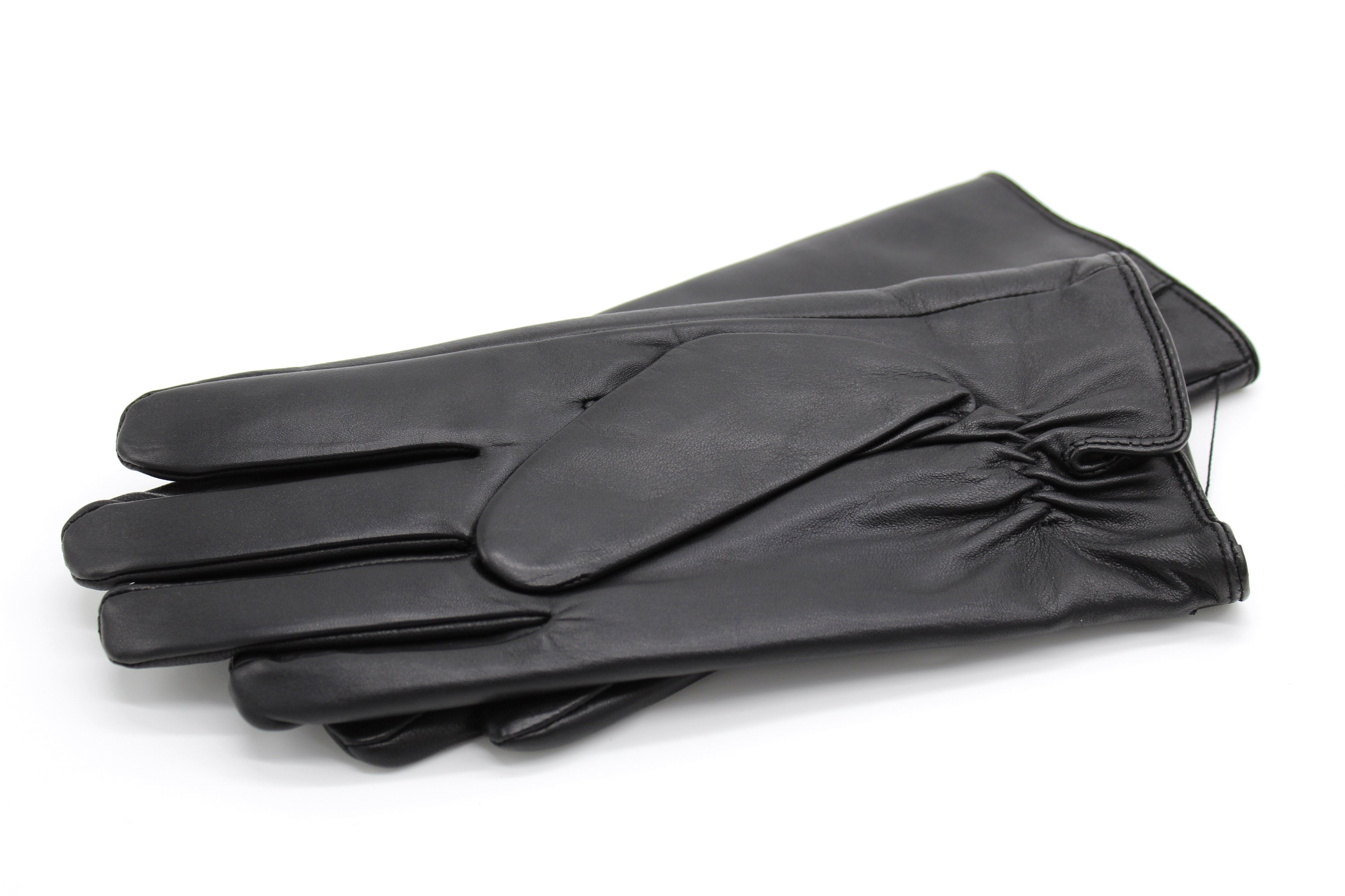 Mens Cashmere Lined Leather Gloves, Black €59