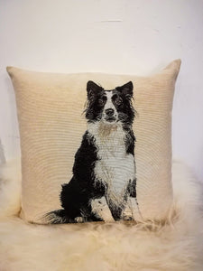 Quiet Collie cushion cover