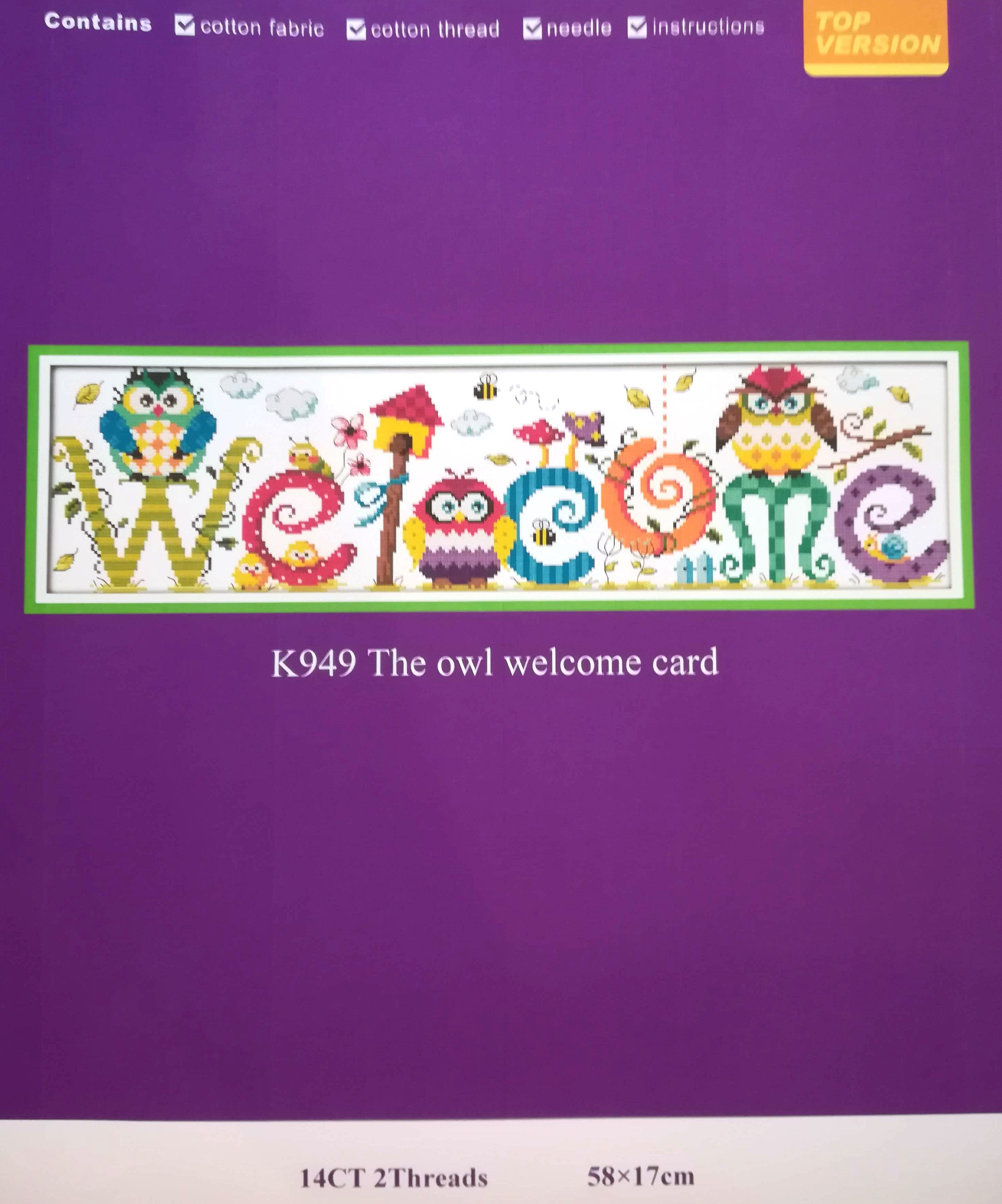 The Owl welcome card