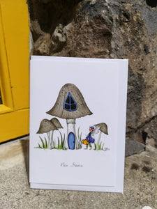 Burren Flower Fairies New home card, A5 with white envelope.