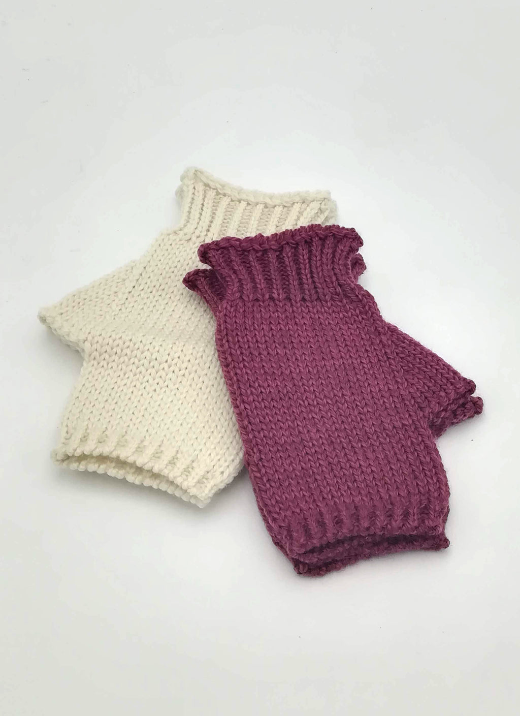 Fingerless mittens.