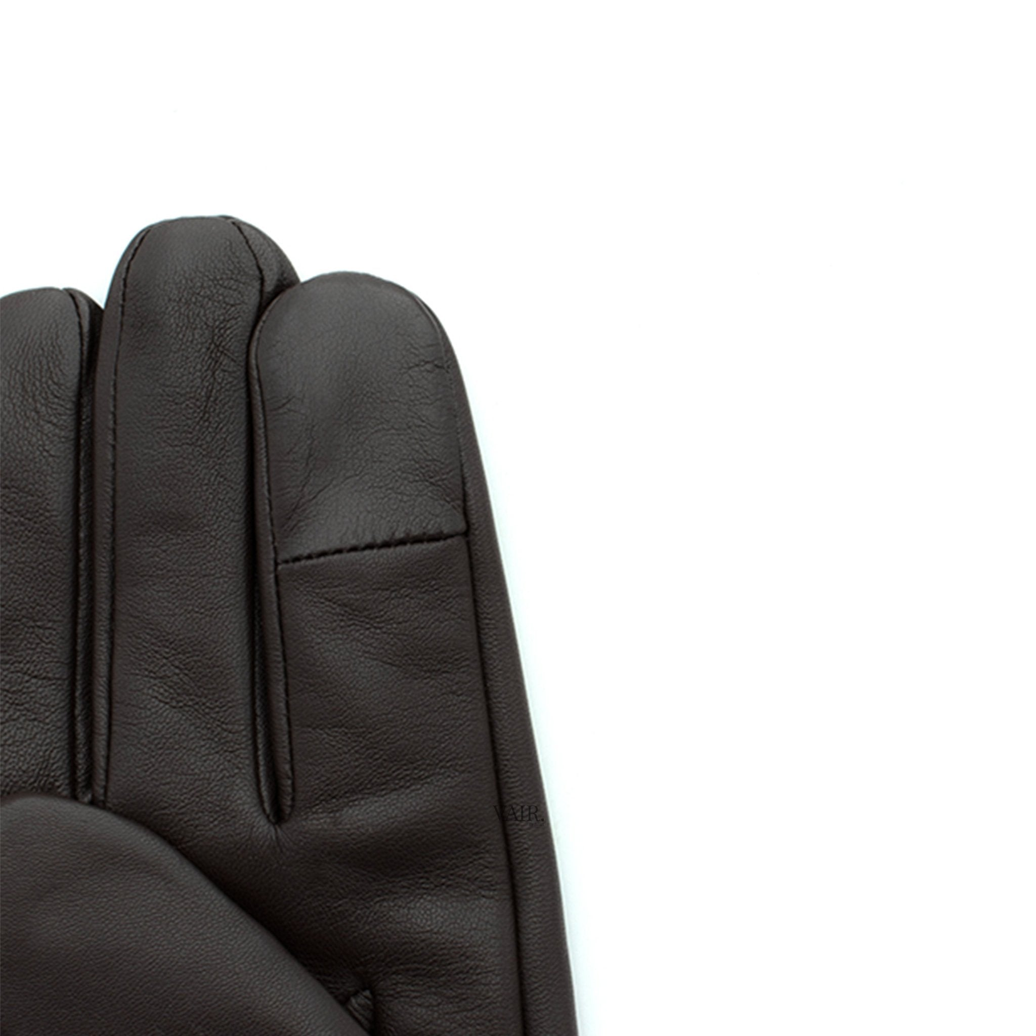 finger touch screen feature signature mens leather gloves with cashmere lining by juliette vair