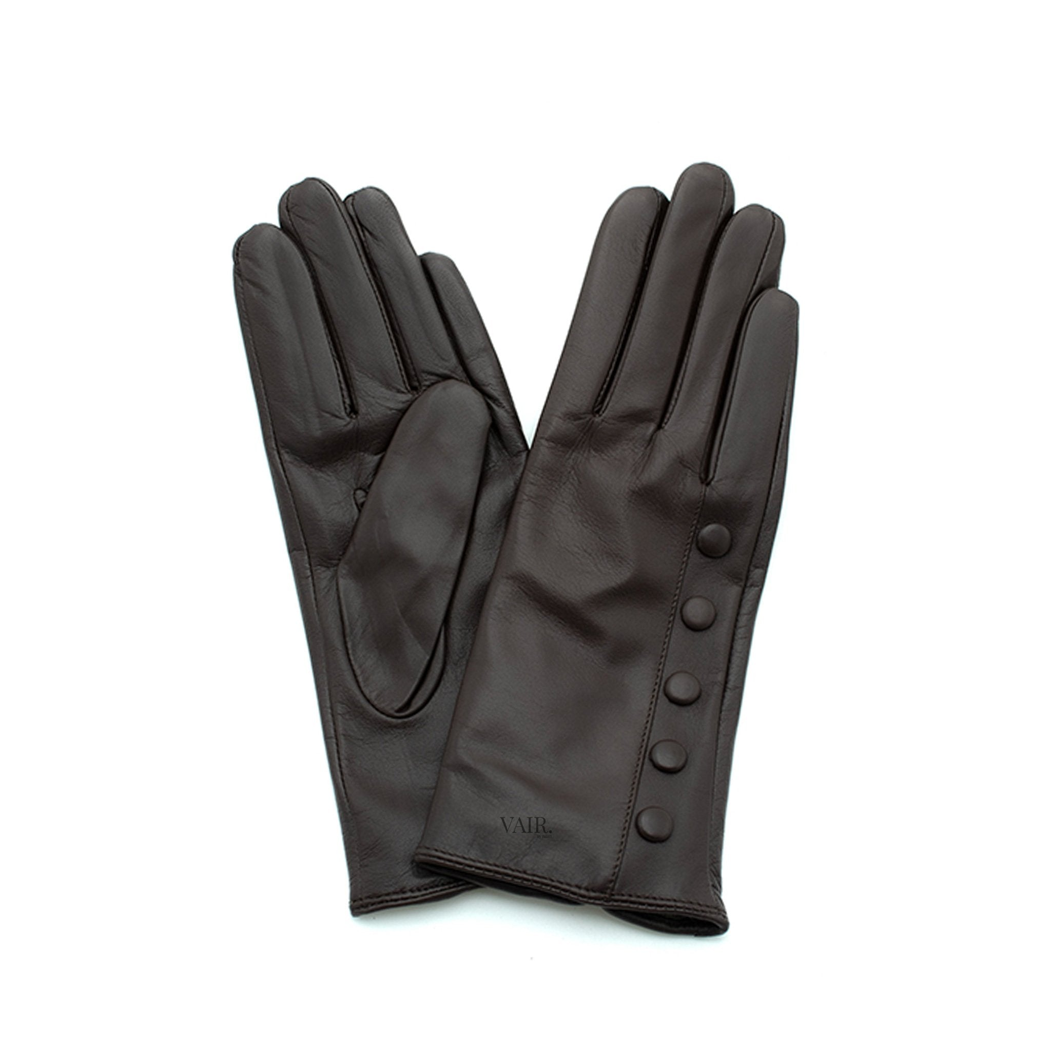 black leather gloves with cashmere lining timeless by juliette vair