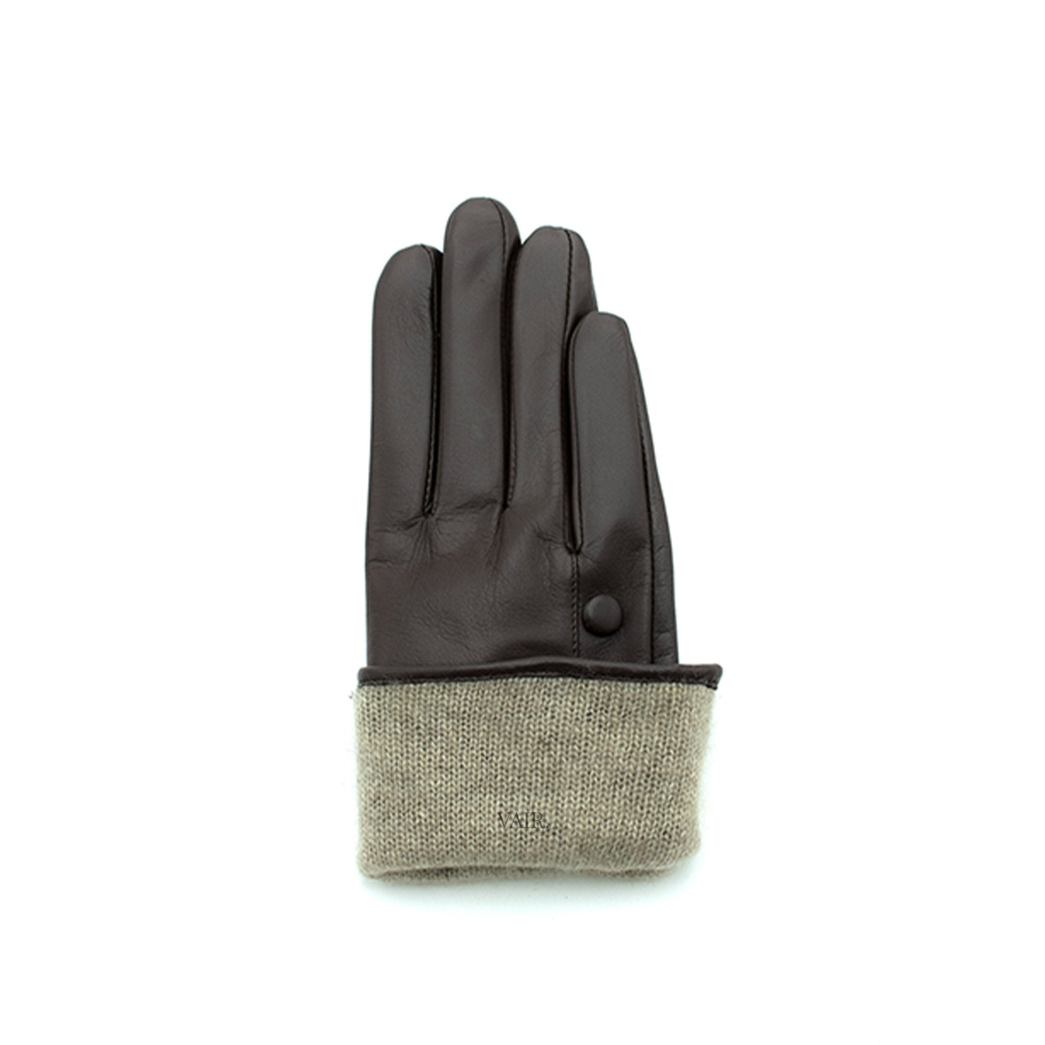 lined brown leather gloves with cashmere lining timeless by juliette vair