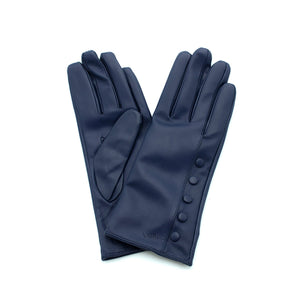 royal blue leather gloves with cashmere lining timeless by juliette vair