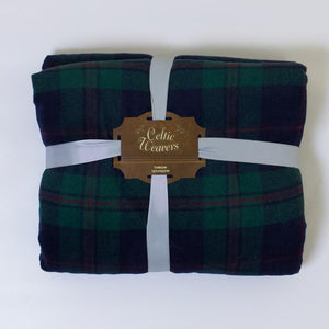 celtic weavers Blanket navy and green check, 100% polyester,