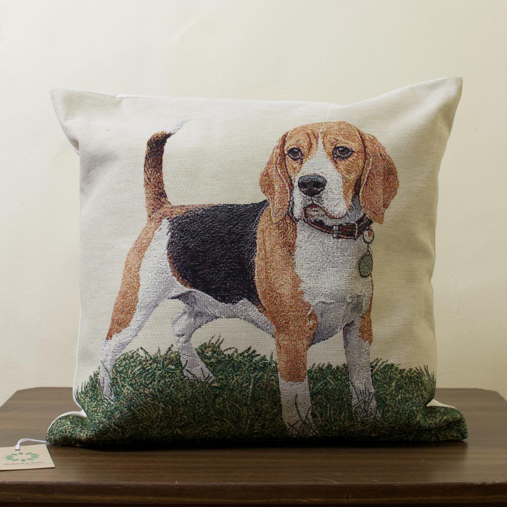 Beagle Tapestry cushion, 18 inches x 18 inches, filled or unfilled