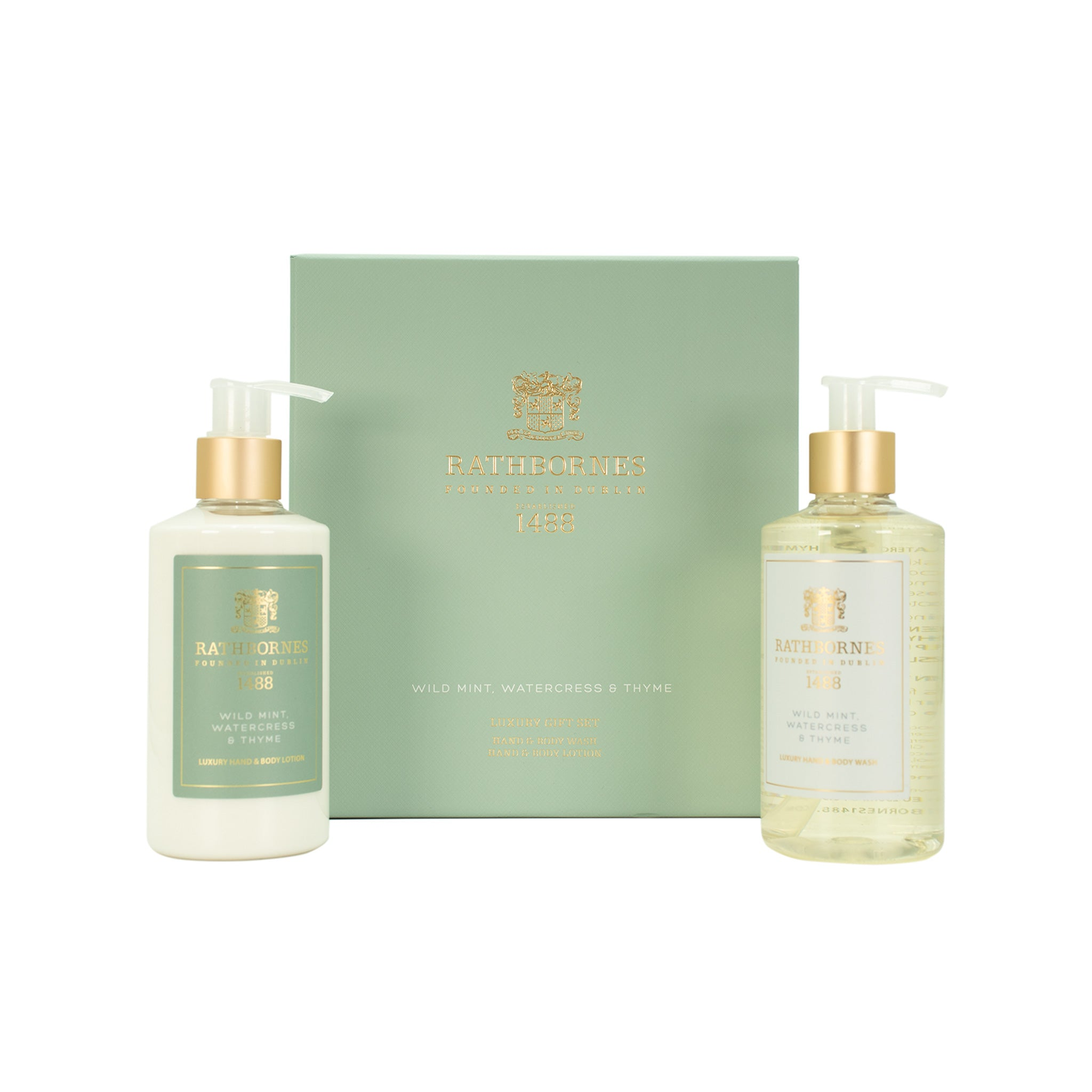 Rathbornes Luxury Wild Mint Wash and Lotion set