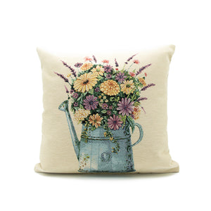 vintage watering can cushion