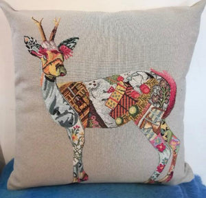 Patchwork Deer Cushion