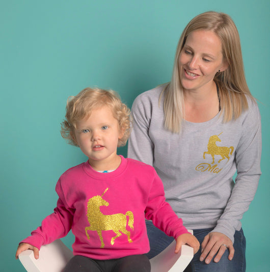Unicorn Mama Sweater: Grey