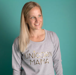 Unicorn Mama Sweater: Metallic