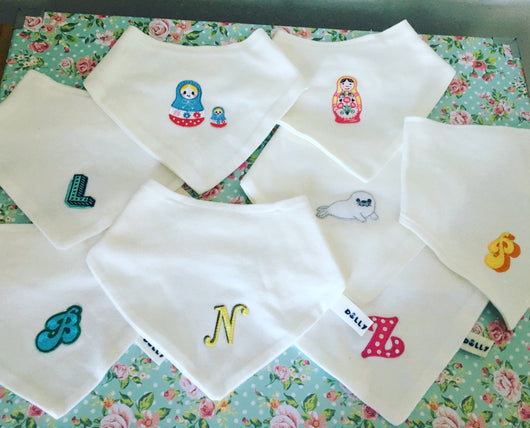 Embroidered Patch bibs