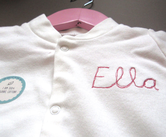 Personalised Sleepsuit: Ella