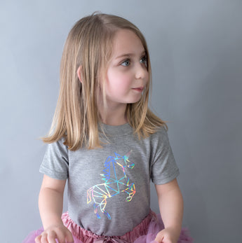 unicorn baby outfit unicorn toddler shirt t-shirt outfit holographic geometric cool unique baby clothes unicorn baby clothing