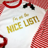 Naughty or Nice List Pajamas