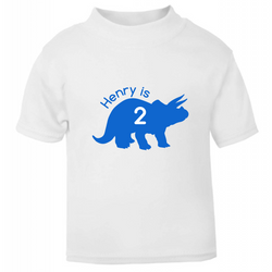 'I am 2' Triceratops Tee