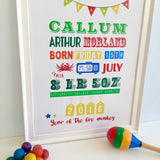 Birth Print-Rainbow