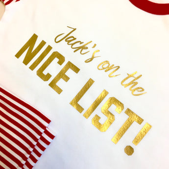 Personalised Naughty or Nice List Pajamas