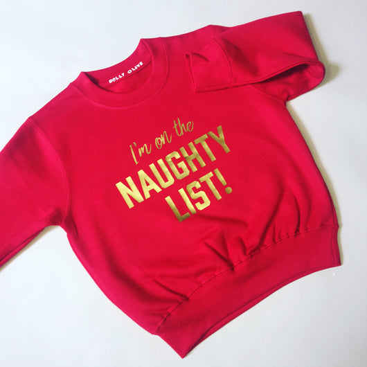 Adult Naughty or Nice Jumper