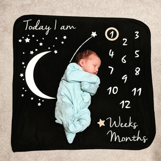 Starry Night Milestone Blanket: Mono
